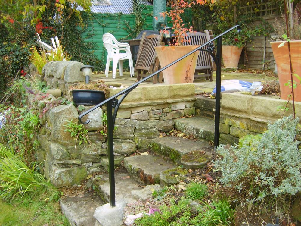 Handrails balustrades for Garden decking handrails
